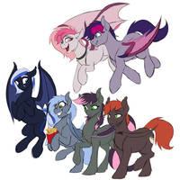 Bat Ponies- The Groupening