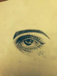 eye sketch by dvir5335