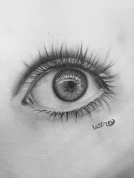 realistic eye sketch by dvir5335