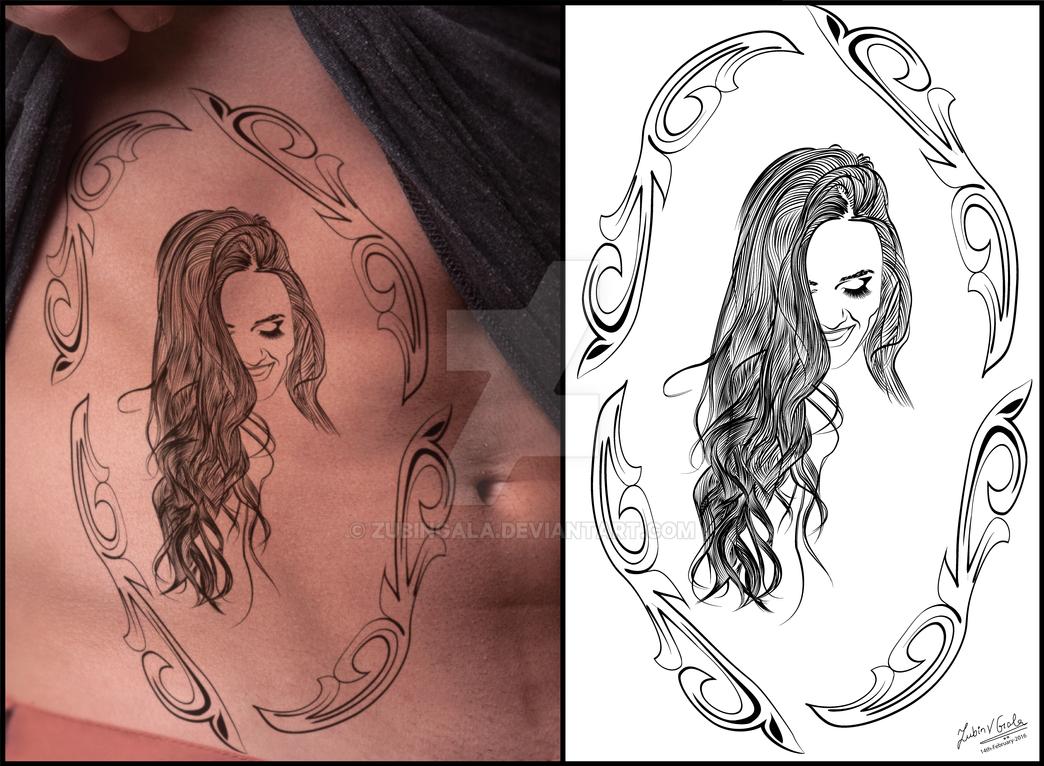 Veronica - Tattoo Design #1 by zubingala