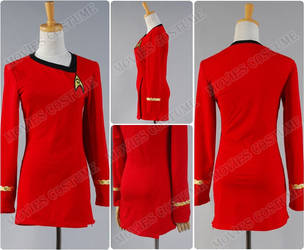 Star Trek The Female Duty Uniform Red Dress by moviescostume