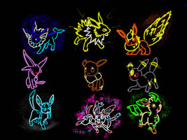 133 Eevee (the whole family tree) by XxGingerSharkxX