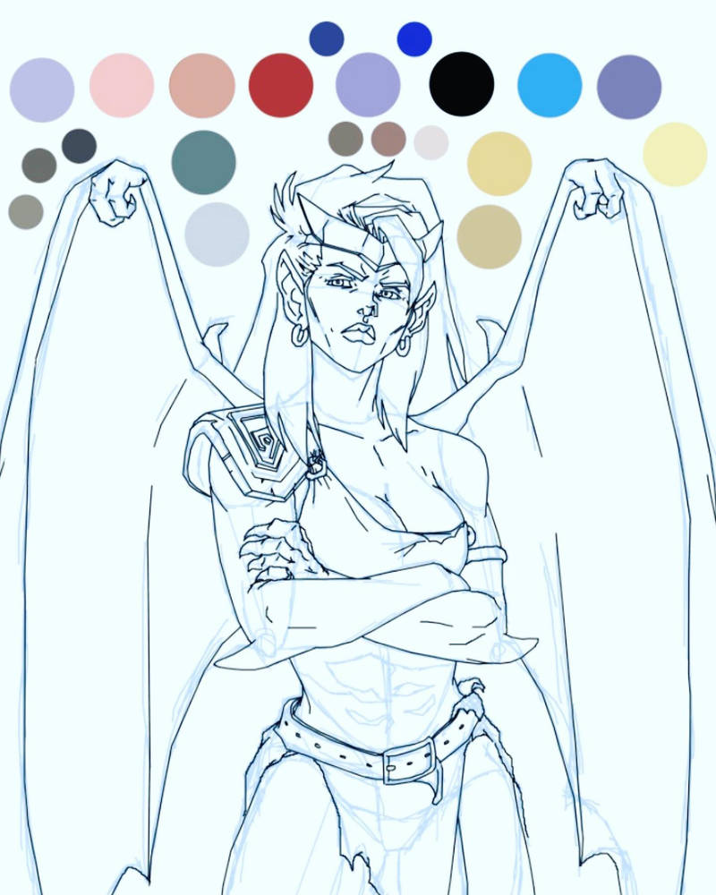 Demona (sketched with line work) by I-IeXXus7