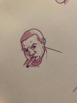 Cigar smoker inked,