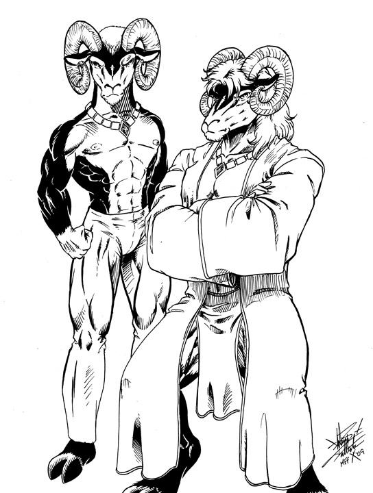 MFF09 - Jared and Gemini - Ink by Pegasus316
