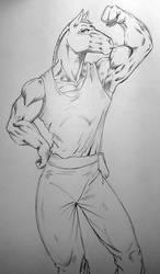 Commission - Garid Sketch for HollyAnn by Pegasus316