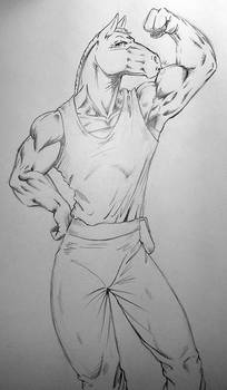 Commission - Garid Sketch for HollyAnn