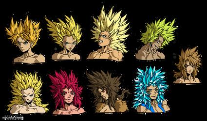 Rokka - SSJ forms by Kodama-sama