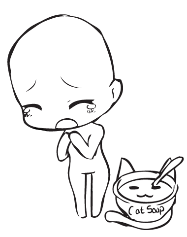 Crying Chibi Base by CatSoupBases on DeviantArt
