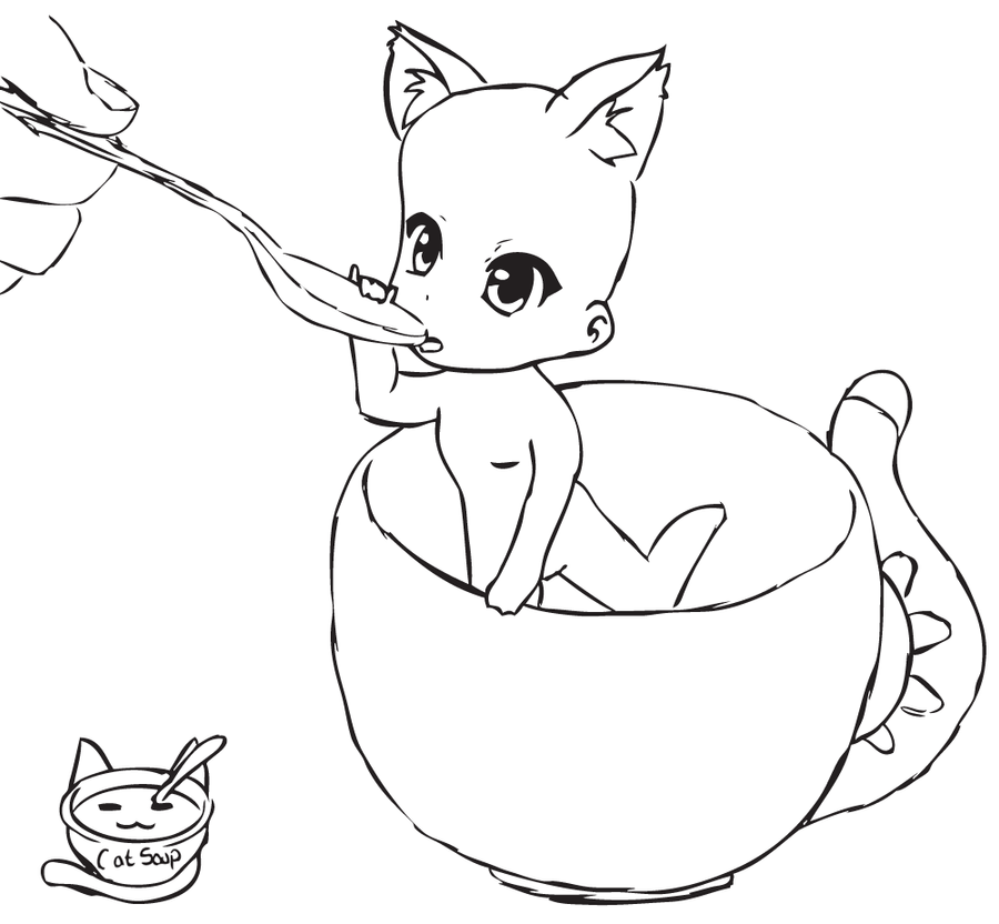 Chibi Cat Base Chibi Cat Cup Base by