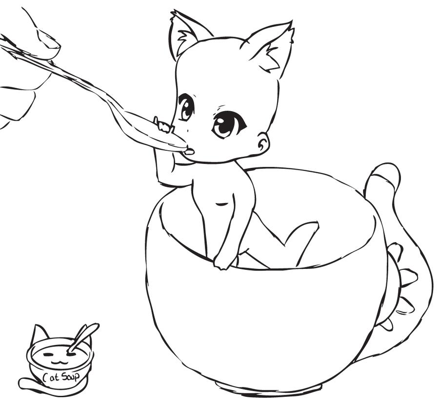 Chibi Cat Base Chibi Cat Cup Base by