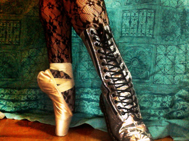 Pointe Shoes and Combat Boots by Velours-Noir on DeviantArt