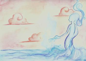 At the Water's Edge by hiarashii-kitsuneko