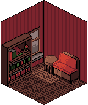Red Study Room by UsagiToxic
