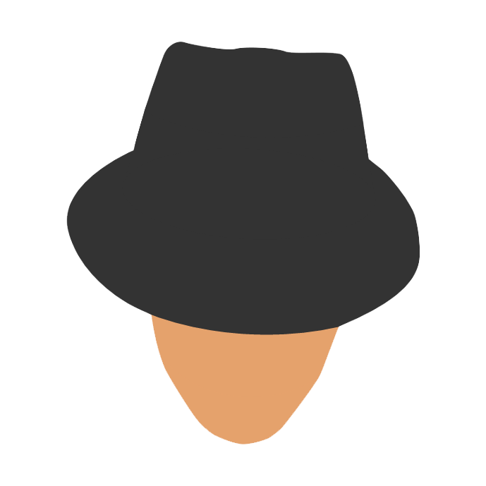 Mr. Fancy Hat - Minimalistic by bigomega