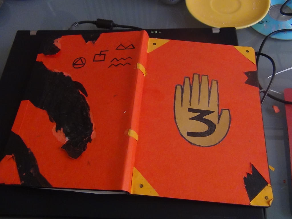 Gravity falls journal 3 front and back cover by figui3000 for Koch 6 backjournal