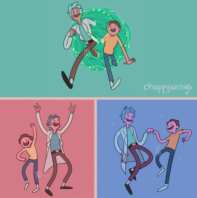 Commission - Rick and Morty AT style