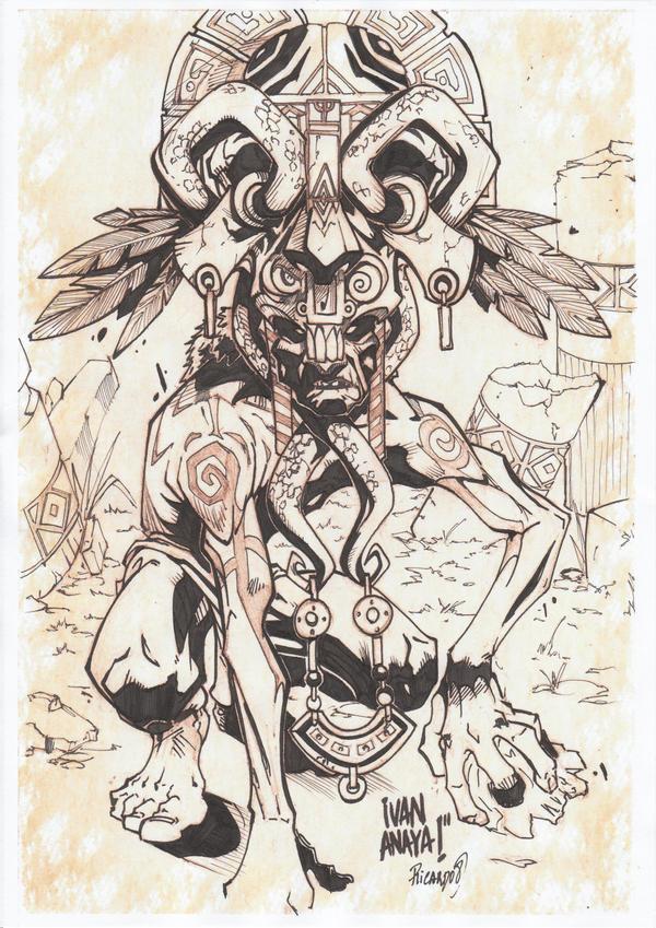 Mayan God Of Death Tat...