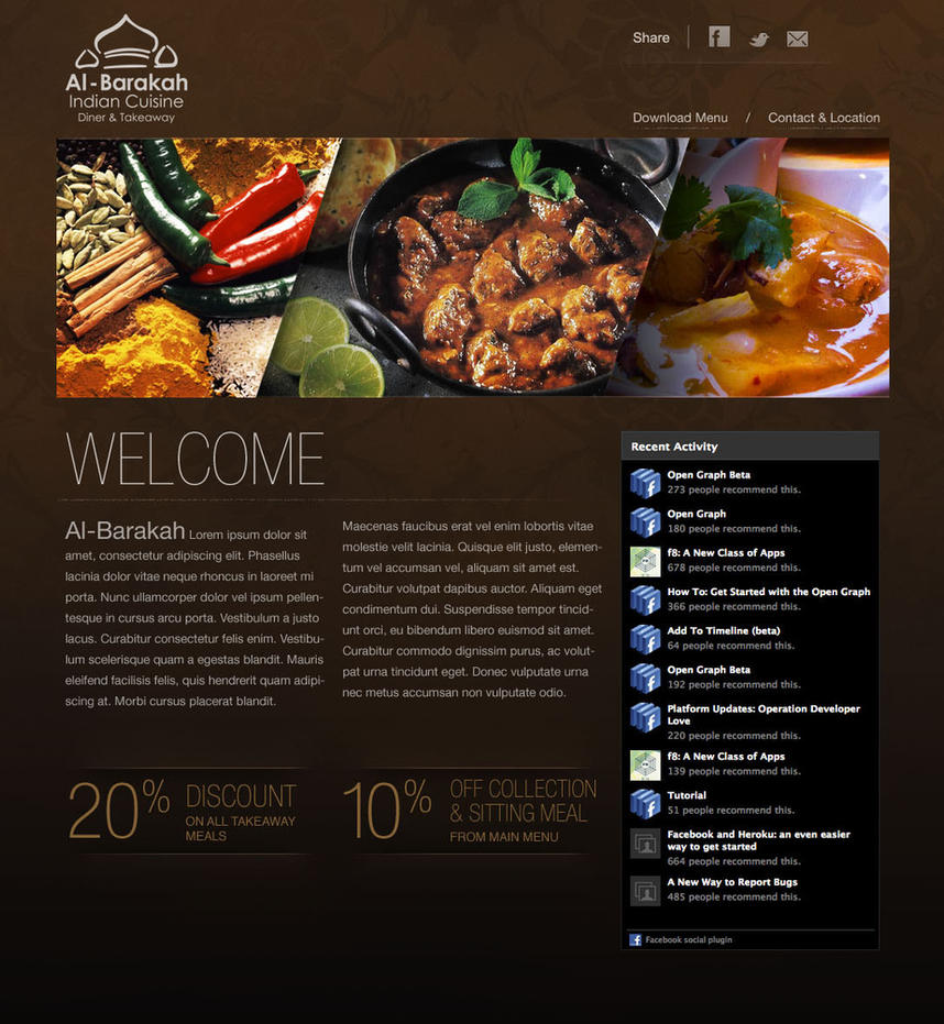 Indian Restaurant Web Design By Mostofa On Deviantart