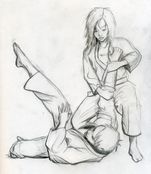 Jiu Jitsu Drawings Brazilian jiu-jitsu drawing 1