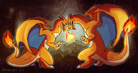 charizards by hummeri9