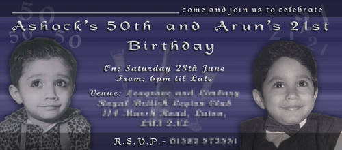 21st and 50th Birthday Invite