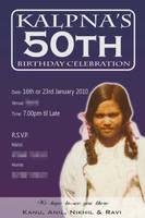 Kalpnafoi 50th Invite