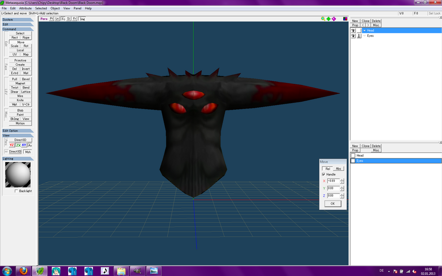 MMD Black Doom WIP by McChipy