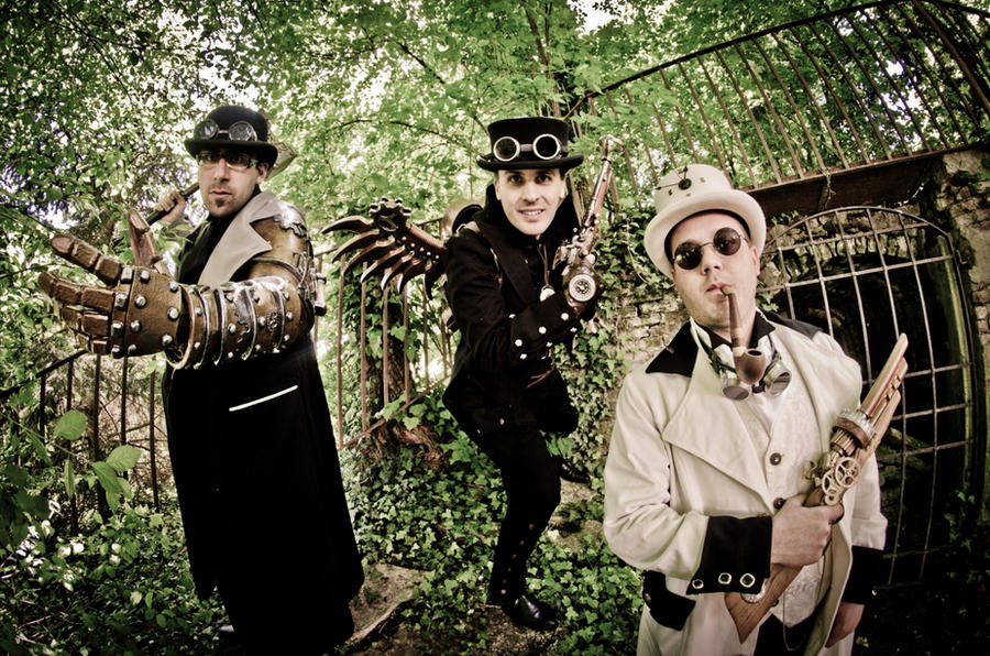 Steampunk Incredible Trio by boss8080