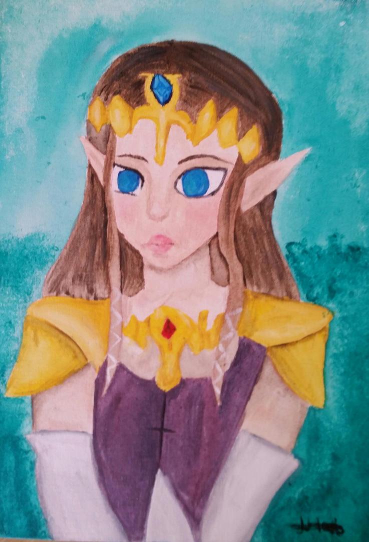 Zelda painting   by JinxedP