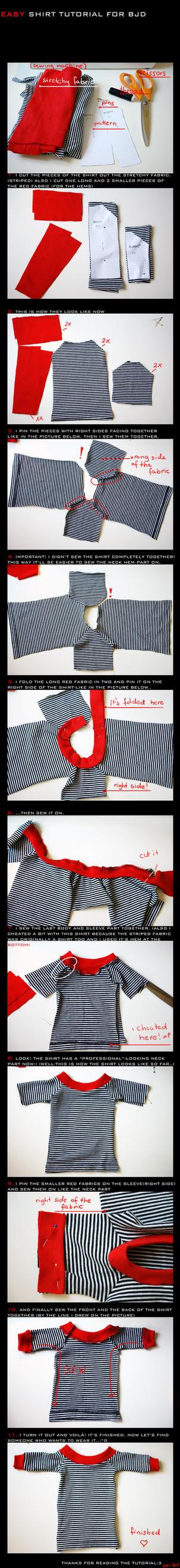 BJD shirt - TUTORIAL by so-fiii