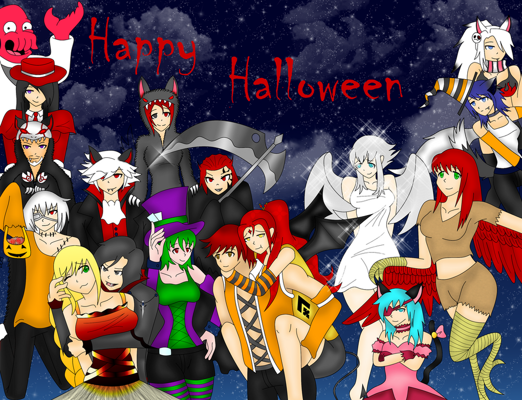 RWBY Oc Halloween Collage by idkskittles94