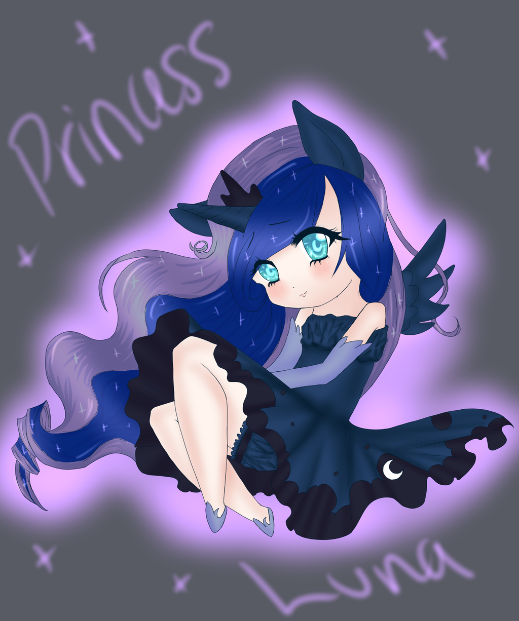 Princess Luna Chibi by Art-of-Momoka