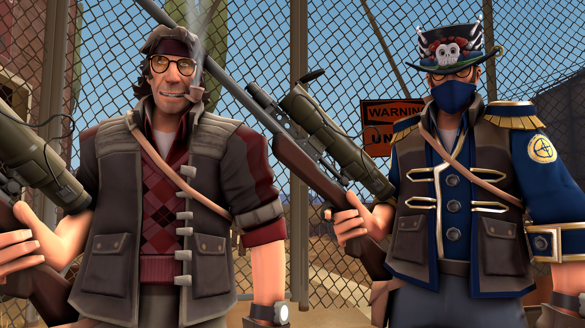 sfm tf2 skin sniper burgundy pack with hats by