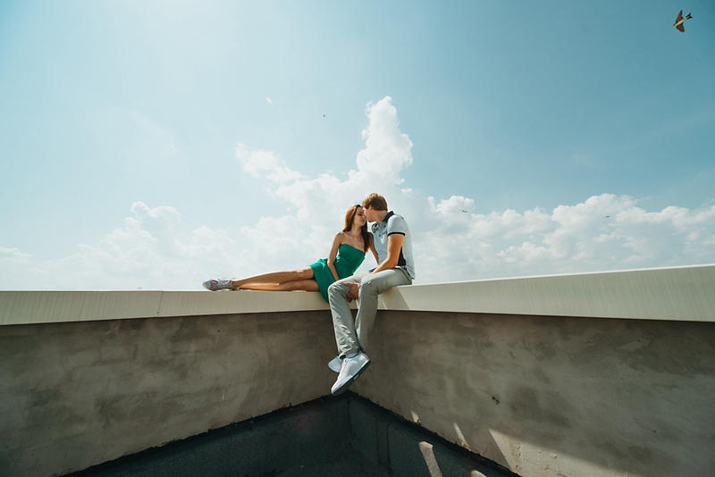 Sky for two by lesyakikh