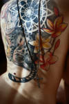 Cat tattoo by lesyakikh