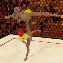 Acrobatic gymnastics mixed pair