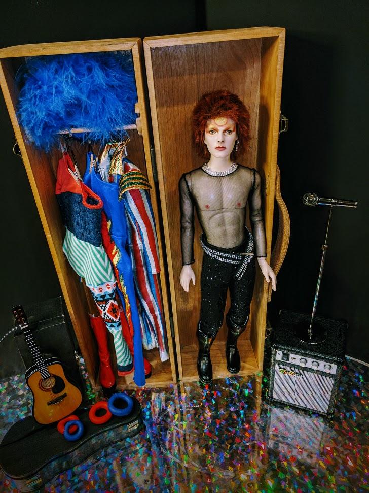 David Bowie As Ziggy Stardust Custom Doll Trunk By