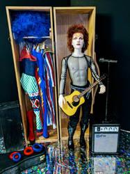 David Bowie as Ziggy Stardust fan art by dollsbydell