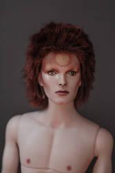 David Bowie as Ziggy Stardust custom doll by dollsbydell