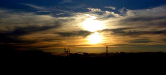 Sunset on the Desert Highway by yamibaku