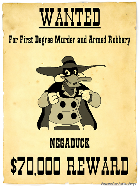 Negs Most Wanted Poster By Darkwingfan On Deviantart