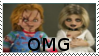 Chucky and Tiffany OMG stamp by DarkwingFan