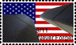 9-11 Never Forget Stamp by DarkwingFan