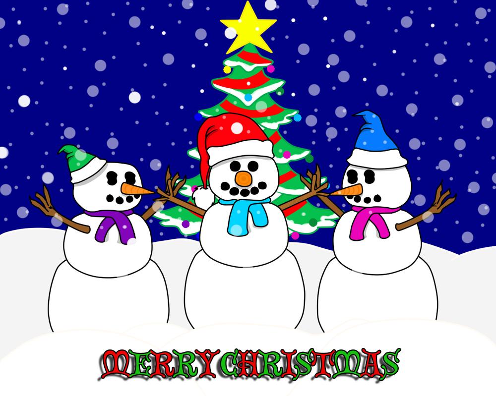 Snowbuddies on Christmas Eve by DarkwingFan