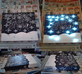 Let It Snow Light Up Canvas