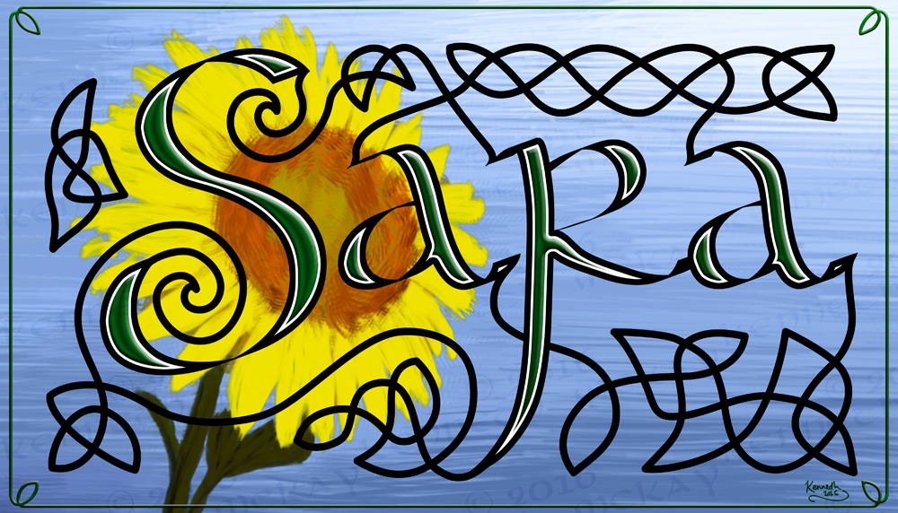 Sara Celtic bookmark by AltaraTheDark