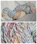 Unicorn Hair - Handspun Yarn - For Sale 45$ by CorvidCreates