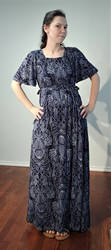 Seashell Rayon Knit Summer Dress by CorvidCreates