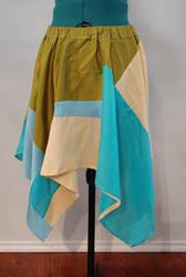 Patchwork Silk Circle Skirt